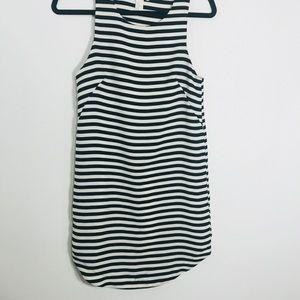 H&m blue white stripe dress size 4 used worn once